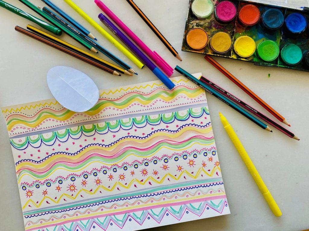 Påskeæg mønster på papir